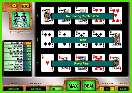 play 3 hand poker online